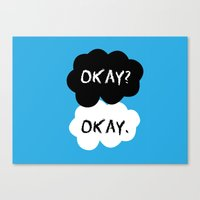 tfios Canvas Prints featuring TFIOS Okay Clouds by digital detours