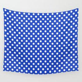 Royal Blue Combination Polka Dots Wall Tapestry