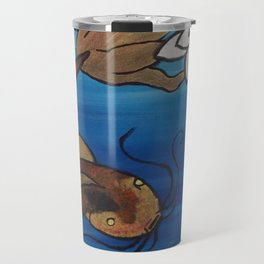 """The Pondering Pond"" by Jes DeCamp Travel Mug"
