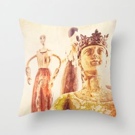 King and Subjects Throw Pillow