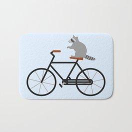 Raccoon Riding Bike Bath Mat
