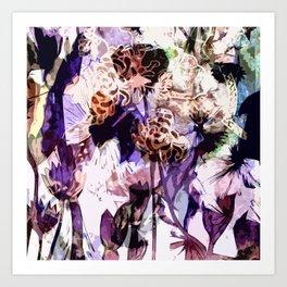 Purple evening Art Print