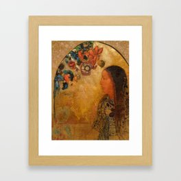 "Odilon Redon ""The Gothic Window"" Framed Art Print"