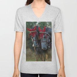Carriage horses Unisex V-Neck