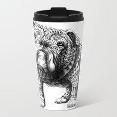 English Bulldog Metal Travel Mug