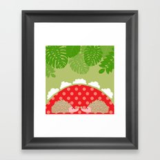 hedge-hug Framed Art Print