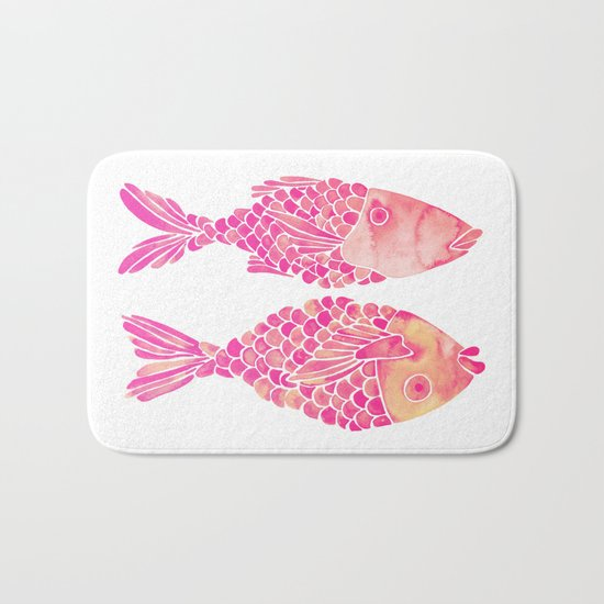 Indonesian Fish Duo – Pink Palette Bath Mat