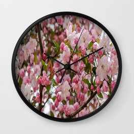 Blossoms in Shades of Pink Wall Clock
