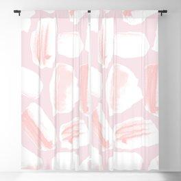 Brushstrokes Pattern Pink Blackout Curtain