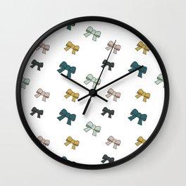 """Noeuds """"Bleu canard"""" Wall Clock"""