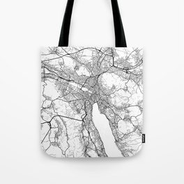 Zurich Map White Tote Bag