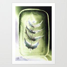 Frozen Mahonia Art Print