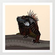 iguana ecru Art Print