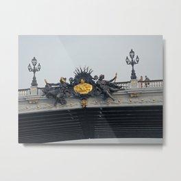 Under Alexander III bridge Metal Print