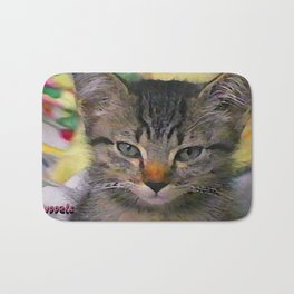 Swoozle's Tabby Kitten After Nap Bath Mat