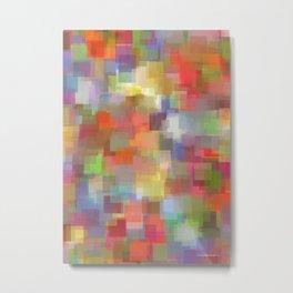 Padparadscha Cubism Metal Print