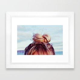 Messy Top Knot Framed Art Print