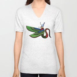 Dragon - demon of ancient Egypt Unisex V-Neck