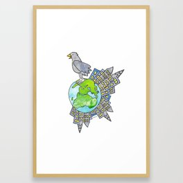 """Happy Alien Earth Bird (from the book, """"You, the Magician"""") Framed Art Print"""