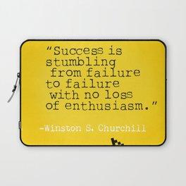 Winston S. Churchill about success Laptop Sleeve