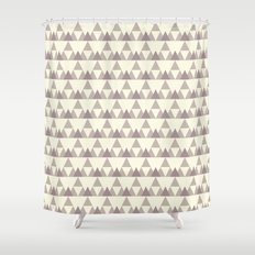 Tiny Triangles Shower Curtain