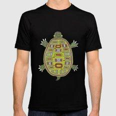 Tiled turtle Mens Fitted Tee MEDIUM Black