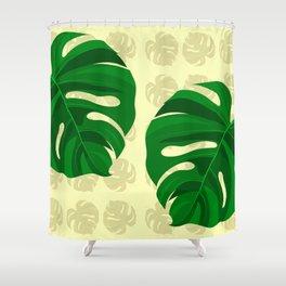foglie 01 Shower Curtain