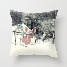 The three little pigs (ANALOG zine) Throw Pillow