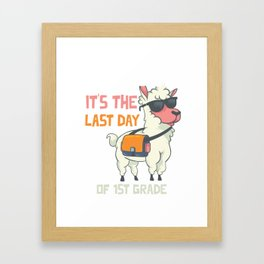 No Prob-llama It's the last day of 1st grade Funny Llama print Framed Art Print