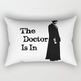 The Doctor Is in: Doctor Who Art Rectangular Pillow
