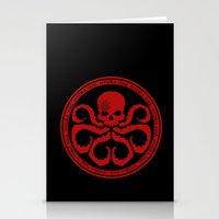 hydra Stationery Cards featuring Hail Hydra! by livinginamovie