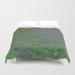GORIAN MOSS GROWING ON FALIS THREE ON A CLOUDY DAY Duvet Cover