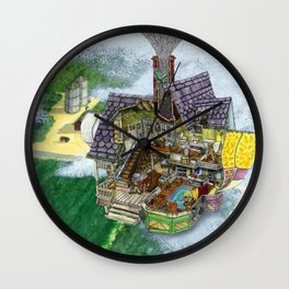 Up - Carl's House Cross-Section Wall Clock