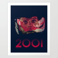 2001 Art Prints featuring 2001 by Shujaat Syed