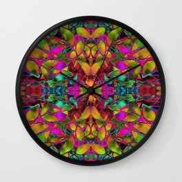 Fractal Floral Abstract G285 Wall Clock