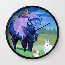 Beach Ball Bison Wall Clock