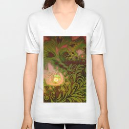 Tahitian Sunrise Unisex V-Neck