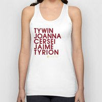 lannister Tank Tops featuring House Lannister 1 Typography series II by P3RF3KT