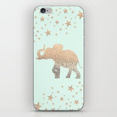 ELEPHANT - GOLD MINT iPhone & iPod Skin