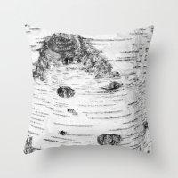 birch Throw Pillows featuring BIRCH by Kjellin