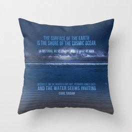 The Shores of the Cosmic Ocean Throw Pillow