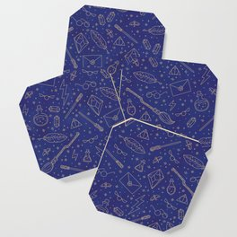 Yer a Wizard - Blue + Bronze Coaster