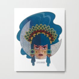 Coyolxauhqui Metal Print