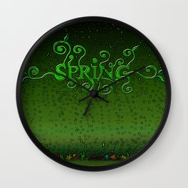 Spring every day Wall Clock
