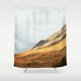 Running to the hills Shower Curtain