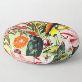 Floral and Birds XXXVII Floor Pillow