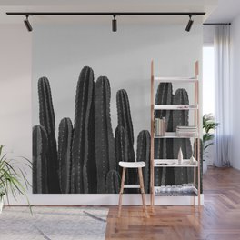 Cactus Black & White Wall Mural