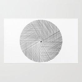 Circular Lines* Rug