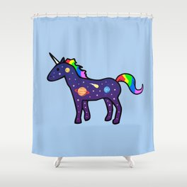 Space Unicorn Shower Curtain
