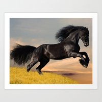 arabic Art Prints featuring Arabic horse by Ace of Spades